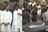 (Video)ಕಾಲು ಜಾರಿ ಬಿದ್ದ ಕಾಂಗ್ರೆಸ್ ಮುಖಂಡನಿಗೆ ಮೇಲಕ್ಕೆತ್ತಿ ವಿಚಾರಿಸಿದ ರಾಹುಲ್ ಗಾಂಧಿ