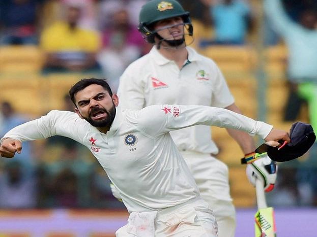 ಬೆಂಗಳೂರಿನಲ್ಲಿ ಆಸ್ಟ್ರೇಲಿಯಾ ವಿರುದ್ಧ ಟೆಸ್ಟ್ ಪಂಧ್ಯದಲ್ಲಿ ಮಿಚೆಲ್ ಮಾರ್ಷ್ ಔಟ್ ಆಗಿದ್ದ ಖುಷಿಯಲ್ಲಿ ವಿರಾಟ್ ಕೊಹ್ಲಿ