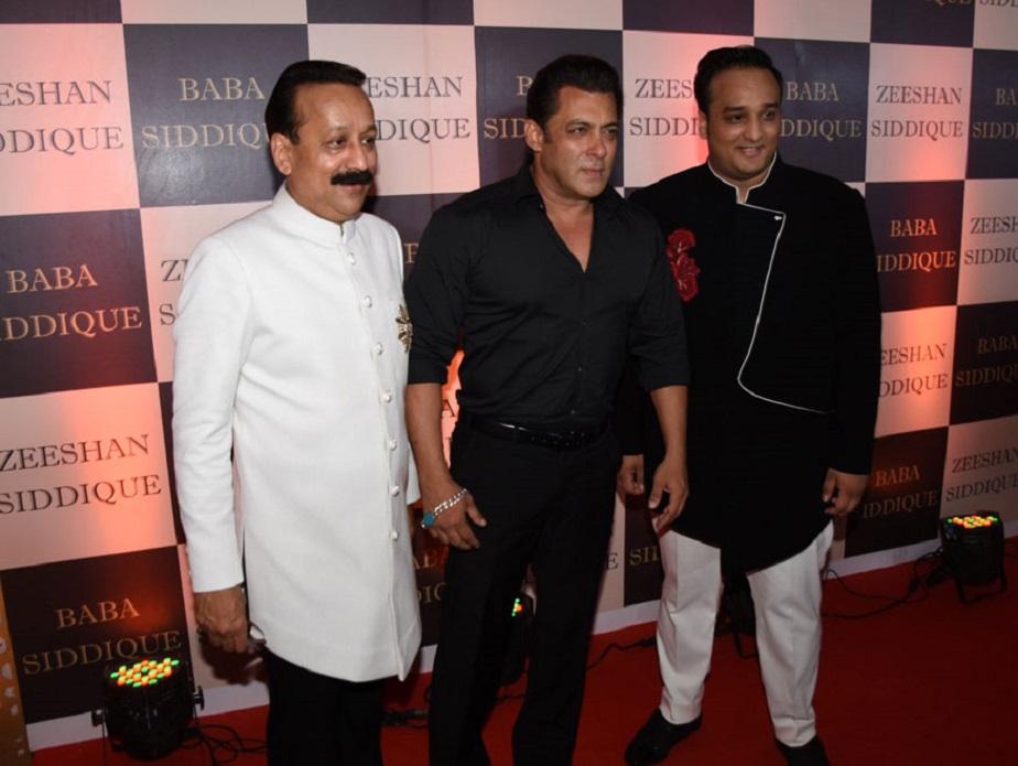 3 ರೇಸರ್ಸ್ : ಬಾಬ ಸಿದ್ದಿಕಿ, ಪುತ್ರ ಝೀಶಾನ್ ಸಿದ್ದಿಕಿ ಜೊತೆ ಸಲ್ಮಾನ್ ಖಾನ್