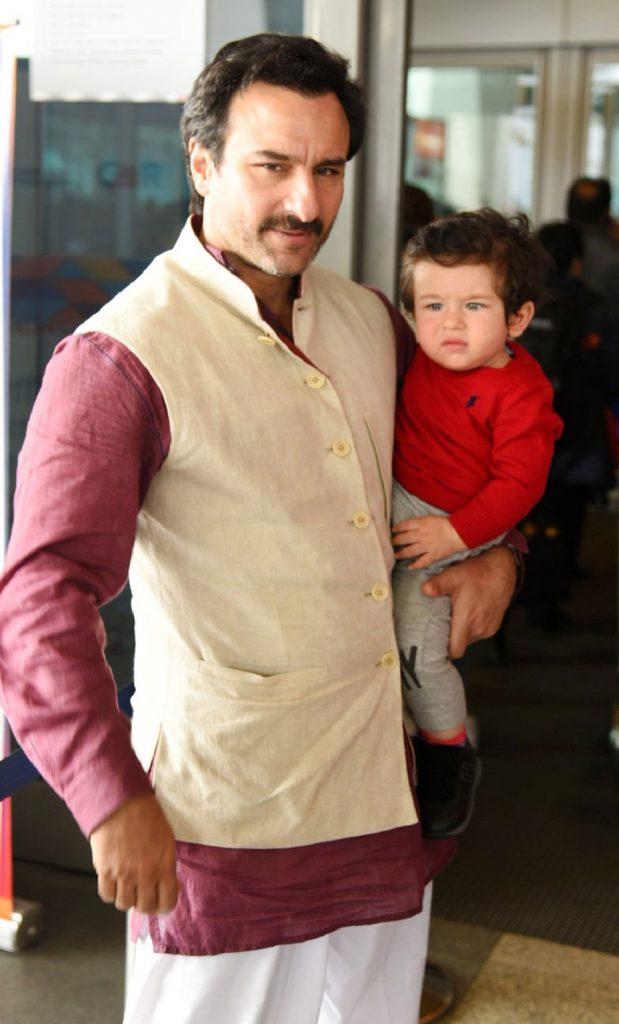 ಮಗ ತೈಮೂರ್ ಅಲಿ ಖಾನ್ನನ್ನು ಎತ್ತಿಕೊಂಡಿರುವ ಬಾಲಿವುಡ್ ಖ್ಯಾತ ನಟ ಸೈಫ್ ಅಲಿ ಖಾನ್
