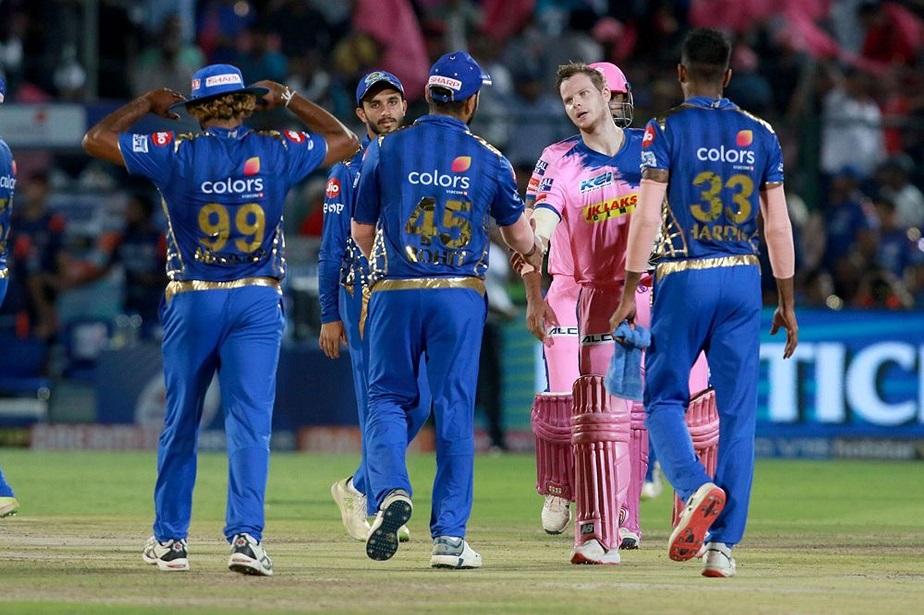 ಮುಂಬೈ ವಿರುದ್ಧ 5 ವಿಕೆಟ್ಗಳ ಗೆಲುವು ಸಾಧಿಸಿದ ರಾಜಸ್ಥಾನ್ ರಾಯಲ್ಸ್
