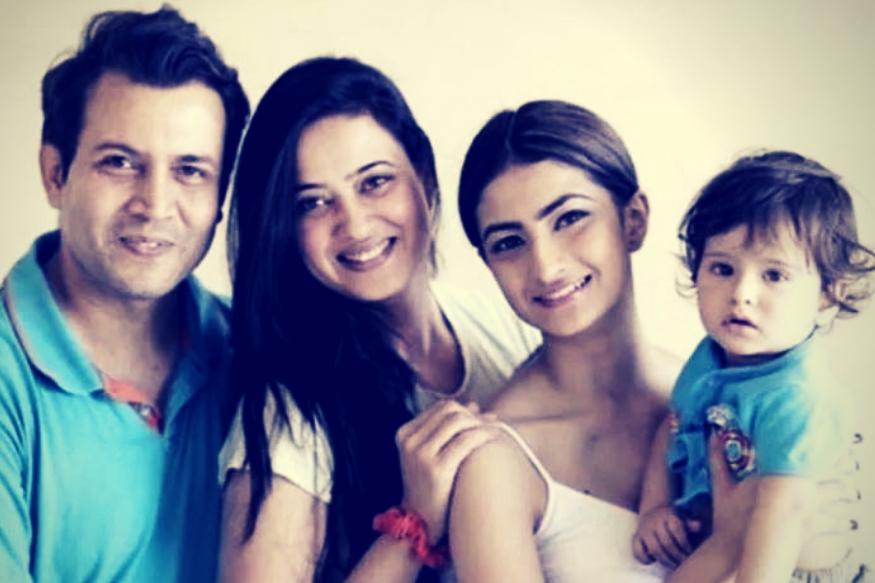 Actress Shwetha Tiwari with her Family