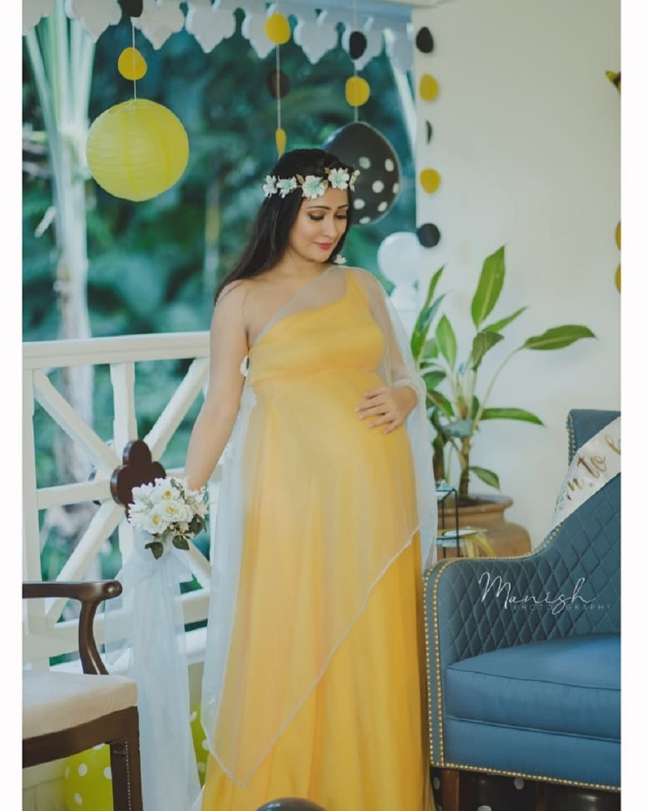 Radhika Pandith shared her baby shower photos in her Instagram