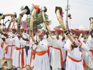 ಶ್ವಾನಗಳ ಜೊತೆಗೆ ಪೋಲೀಸ್ ಬಿಗಿ ಬಂದೋಬಸ್ತ್