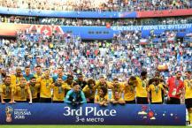 ಫಿಫಾ ವಿಶ್ವಕಪ್ 2018: 3ನೇ ಸ್ಥಾನಕ್ಕಾಗಿ ನಡೆದ ಇಂಗ್ಲೆಂಡ್-ಬೆಲ್ಜಿಯಂ ಪಂದ್ಯಗಳ ನಡುವಣ ಚಿತ್ರಪಟಗಳು