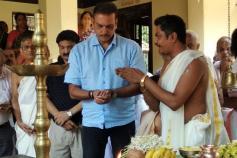 ಟೀಂ ಇಂಡಿಯಾ ಕೋಚ್ ರವಿಶಾಸ್ತ್ರಿಯವರಿಂದ ಉಡುಪಿಯಲ್ಲಿ ನಾಗದೇವರಿಗೆ ಪೂಜೆ