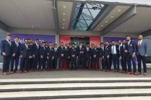 ICC World Cup 2019: ಟೀಂ ಇಂಡಿಯಾ ಆಟಗಾರರು ಇಂಗ್ಲೆಂಡ್ಗೆ ತೆರಳುವ ಮುನ್ನ ಫೋಟೋಕ್ಕೆ ಪೋಸ್ ಕೊಟ್ಟಿದ್ದು ಹೀಗೆ
