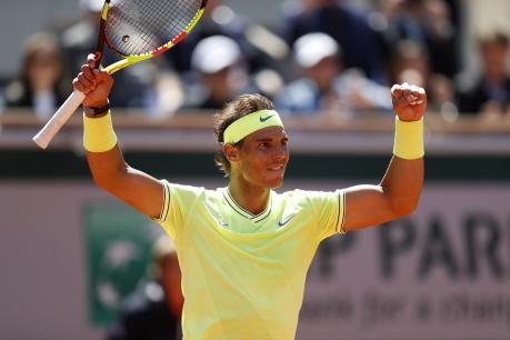 French Open 2019: ಫೆಡರರ್ಗೆ ಸೋಲುಣಿಸಿ 12ನೇ ಬಾರಿ ಫೈನಲ್ ಪ್ರವೇಶಿಸಿದ ನಡಾಲ್